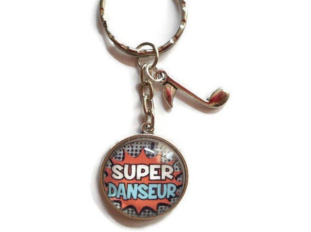 """Porte clés/ DANSEUR/""""SUPER DANSEUR""""/les merveilles de faby/ cadeau fin d'année / remerciements/fête/anniversaire/noel"""