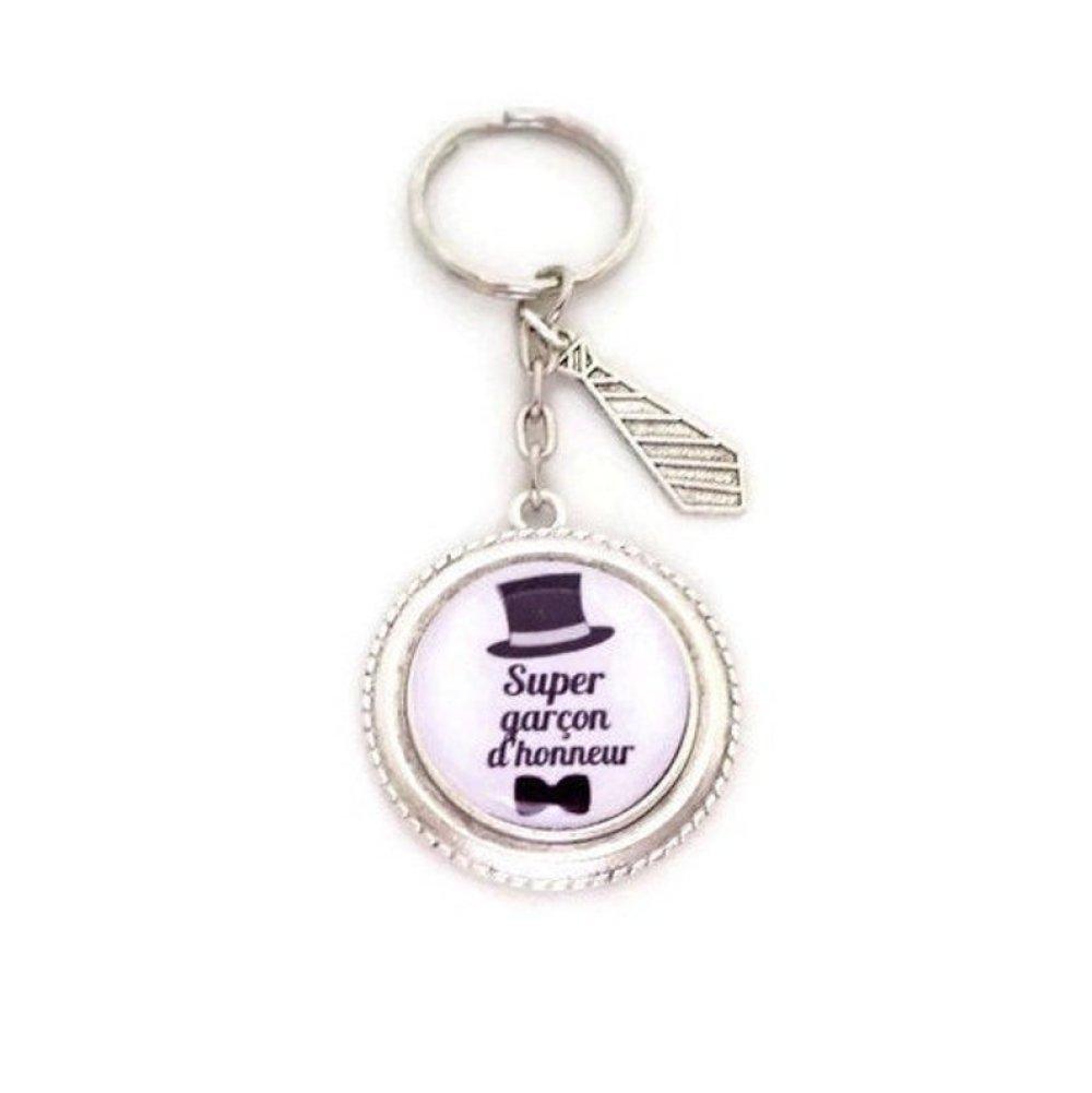 """Porte clés personnalisable,"""" Super garçon d'honneur"""", cadeau mariage, marié"""