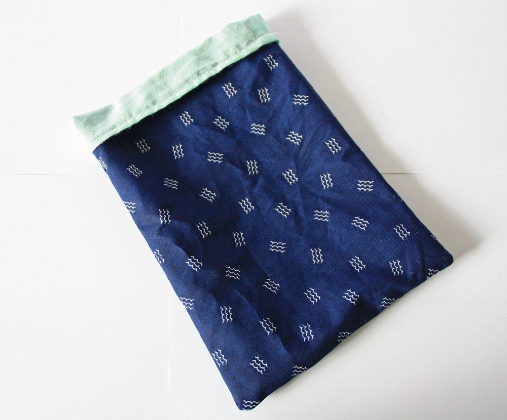 Pochette pour livre Bleu