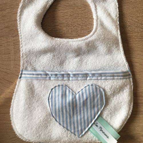 Bavoir coeur 0-6 mois