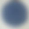 Napperon fait main, rond, réalisé au crochet avec du coton fin bleu. il mesure 21 cm et peut être fait dans un autre coloris.