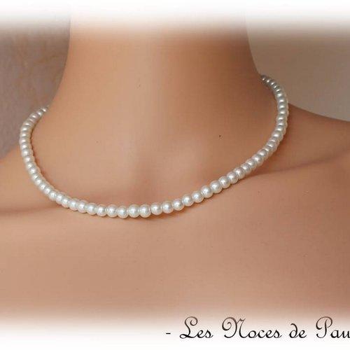 collier perle ivoire