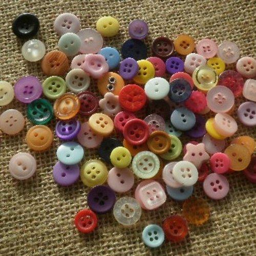 Mercerie Lots de boutons pour la couture verts coloris et tailles variés button