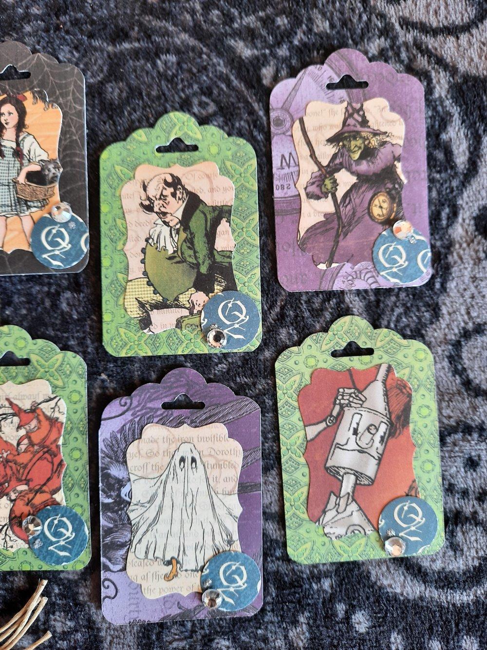Étiquettes  cadeaux magicien d Oz ,vintage,  anniversaire