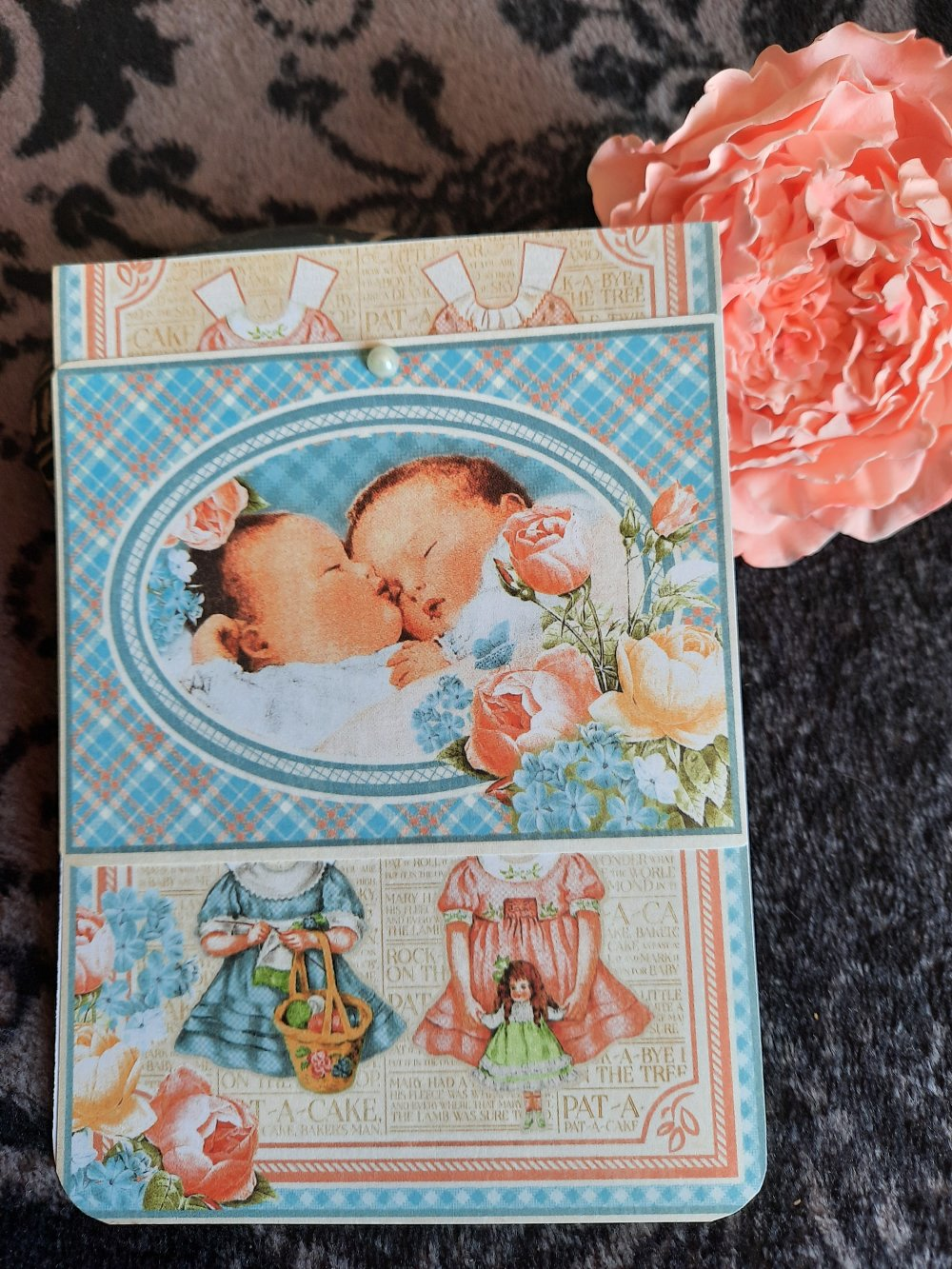 Carte postale bébé  vintage, naissance, baptême