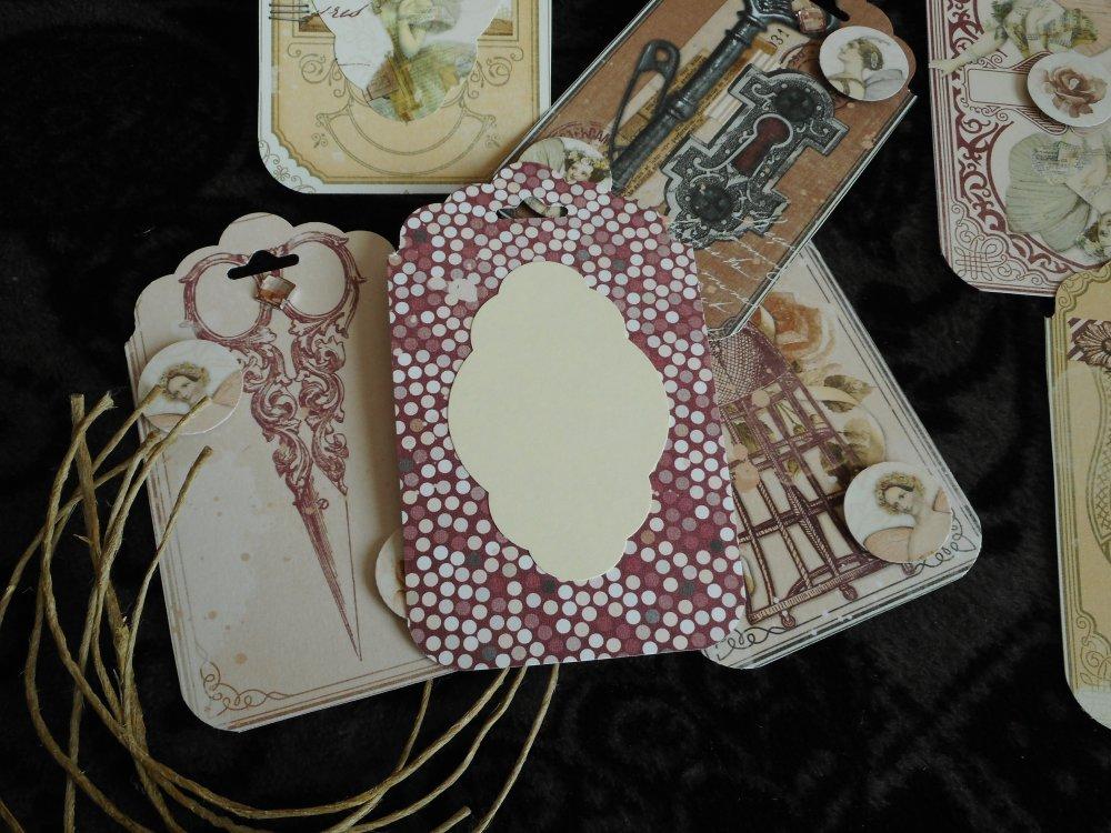 Étiquettes cadeau Tags Shabby Danse de fées , victorien, anniversaire, mariage,