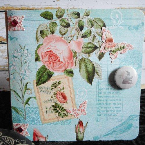 Album photos scrap rosa fête des mères, anniversaire,