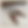 Boucles d'oreilles triangle en bois (loupe) et perles métalliques