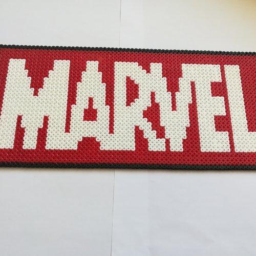 Logo Marvel En Perles à Repasser Hama Un Grand Marché