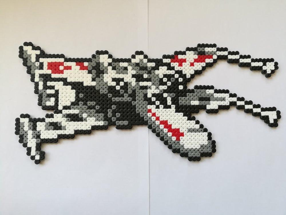 Star Wars Vaisseau X Xing Décoration En Perles à Repasser Pixel Art Geek Art