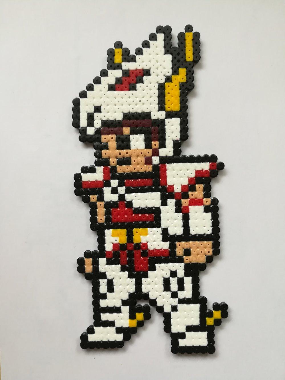 Seiya Chevalier De Pegase Des Chevaliers Du Zodiaque En Perles à Repasser Hama Pixel Art Geek Art