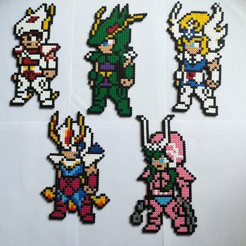 Seiya Shiryu Hyoga Ikki Et Shun Chevaliers Du Zodiaque Pixel Art Geek Art