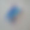 Dauphin bleu 3d en perles de rocaille - décoration perles
