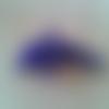Petit dauphin bleu foncé 3d en perles de rocaille