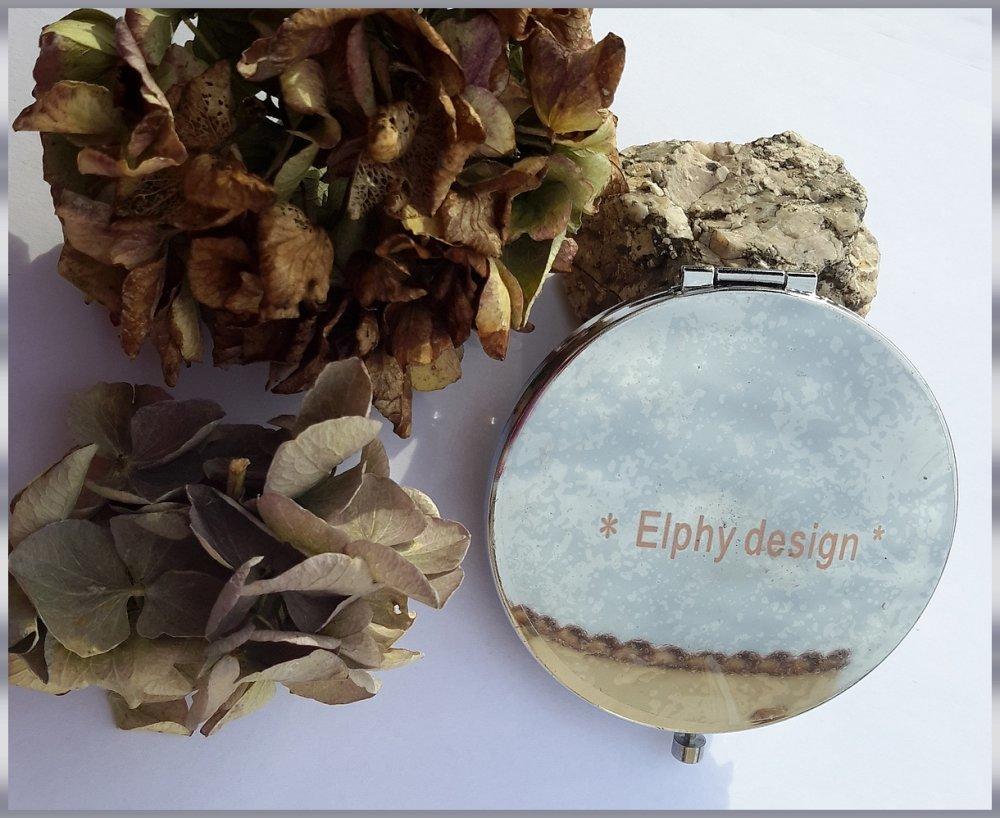 Miroir de sac raffiné CHANNEL rond 70 mm