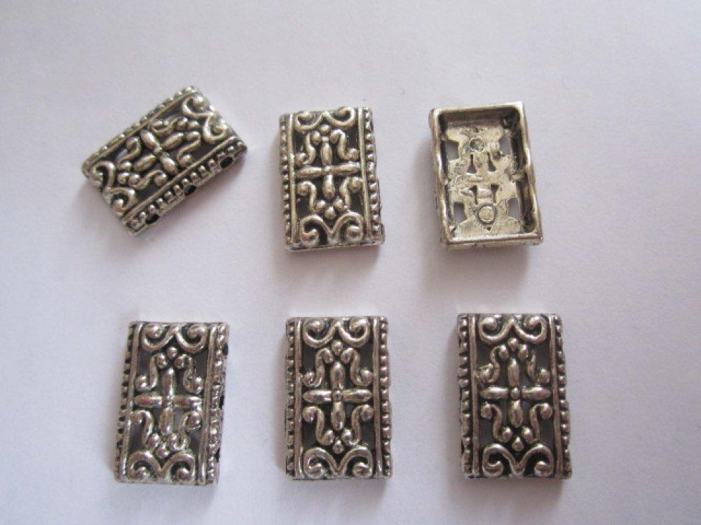 jolies perles intercalaires métal argenté