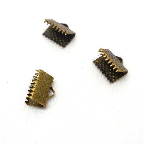 Lot composé de 10 griffes bronzes 8mm