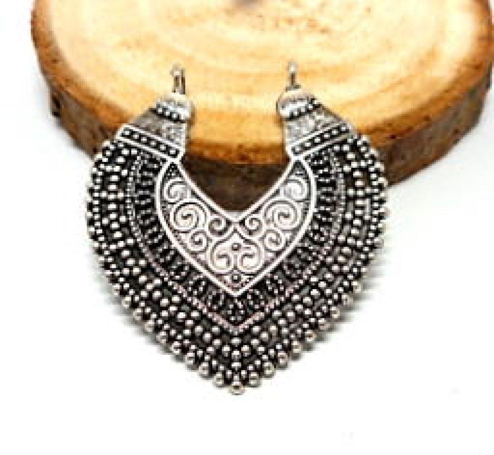 Connecteur en forme de coeur métal argenté