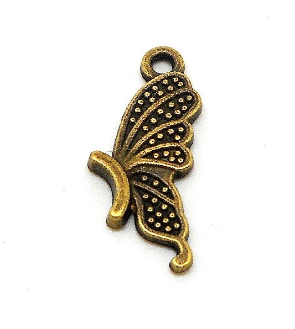 breloque demi papillon couleur bronze