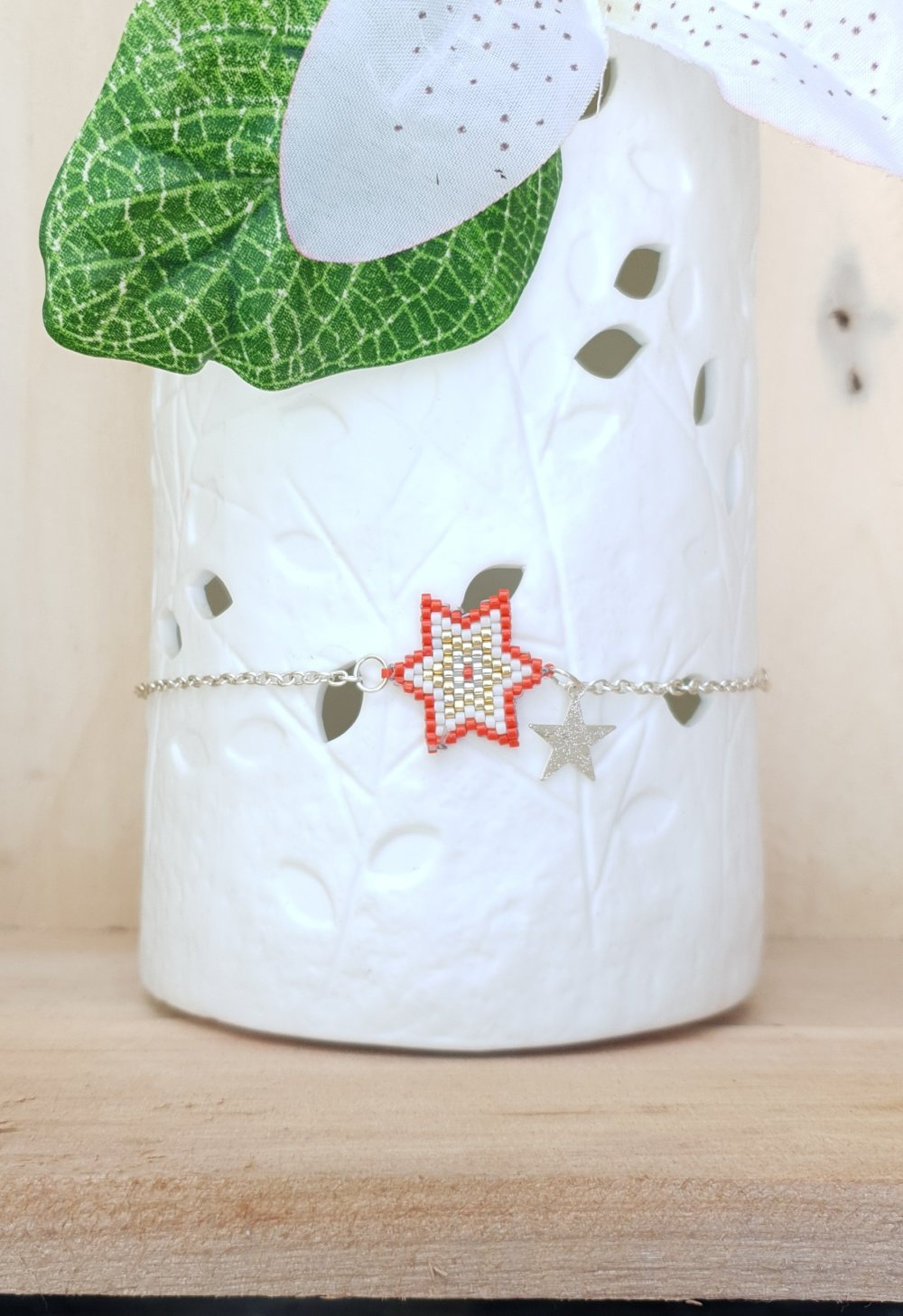 Bracelet de cheville en perles Miyuki- étoile