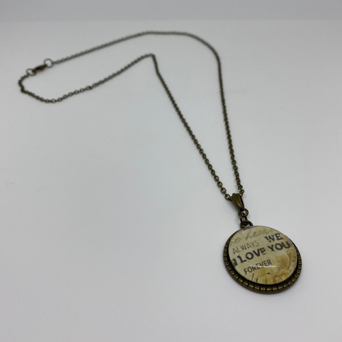 Collier cabochon rond - 2