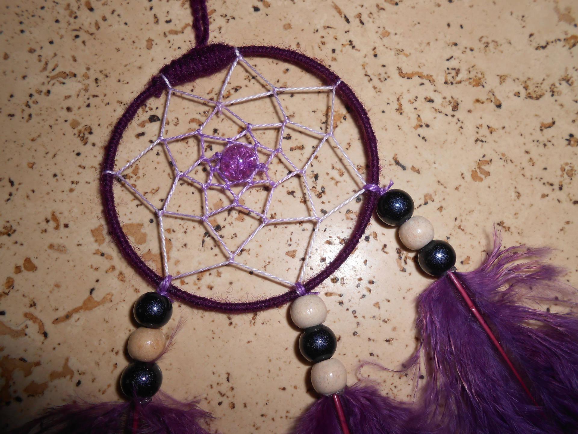 Attrape Rêves / Dreamcatcher fait main violet