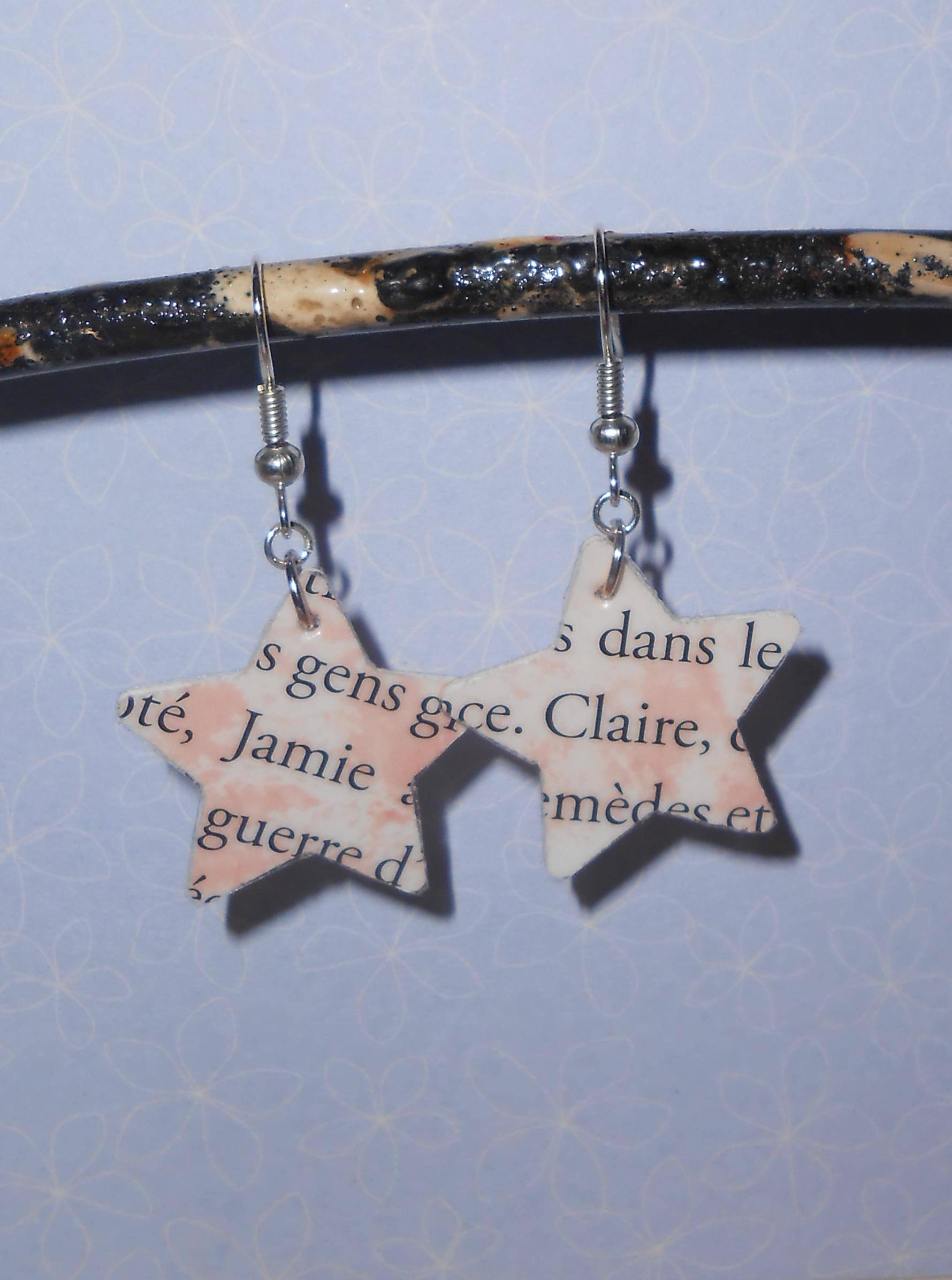 Boucles d'oreilles Outlander Jamie & Claire