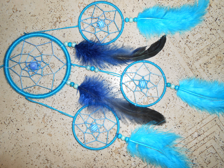 Attrape Rêves / Dreamcatcher fait main bleu