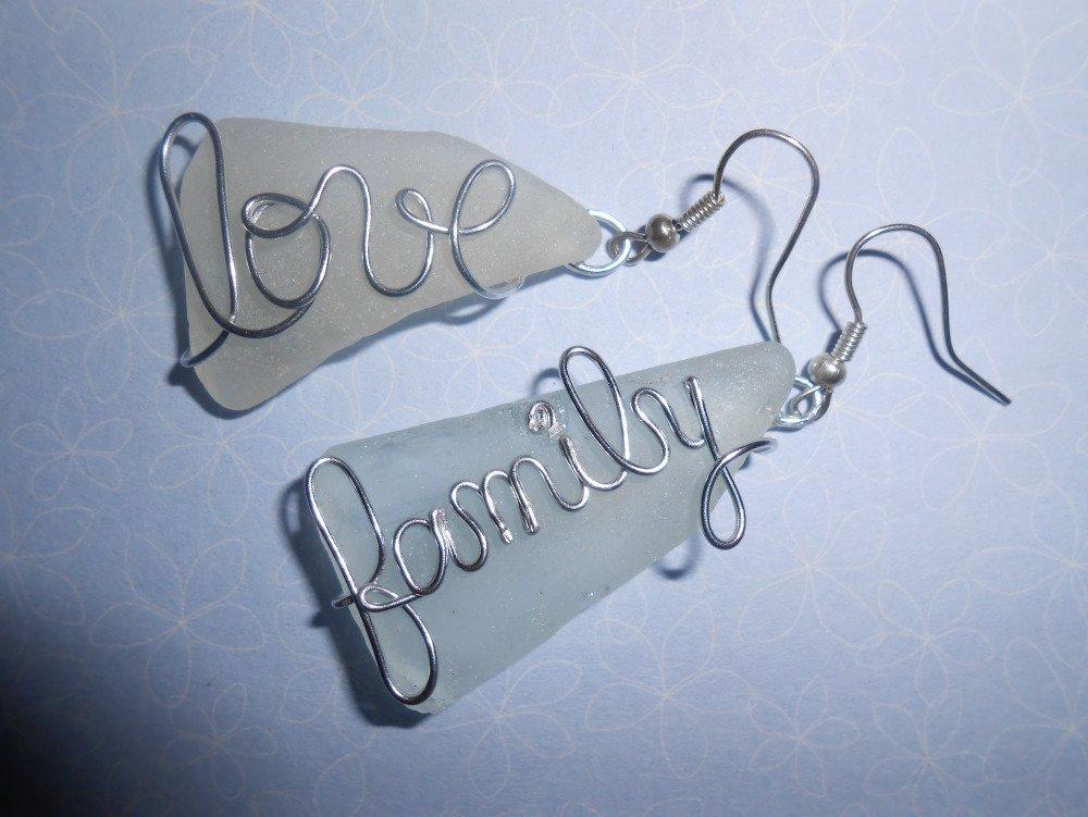 """Boucles d'oreilles """"Love family"""""""