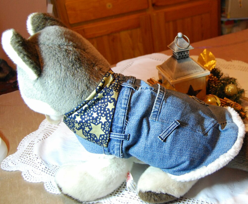 Manteau pour chien en jean taille M