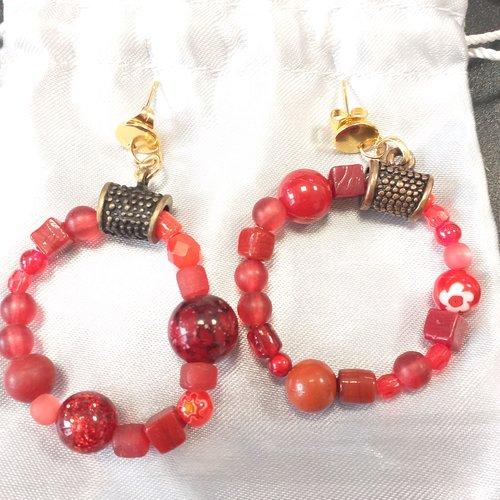 Créoles en perles