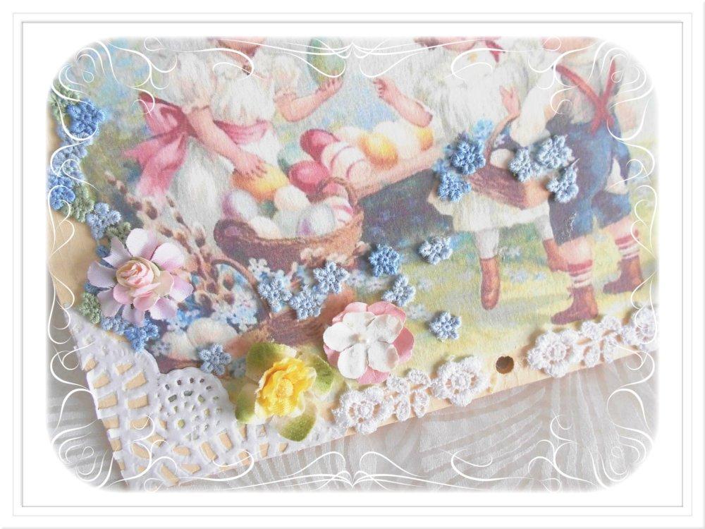 Carte de Pâques de Style Victorien .