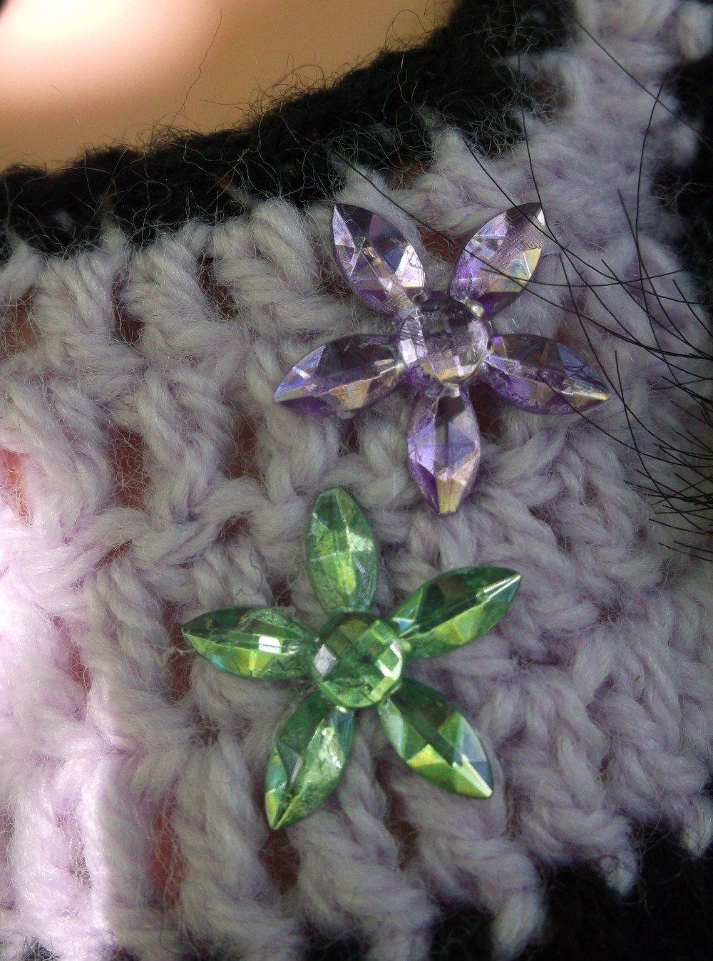 Ens robe NEUVE pour Corolle Les Chéries 33 cms Ref.écru violet