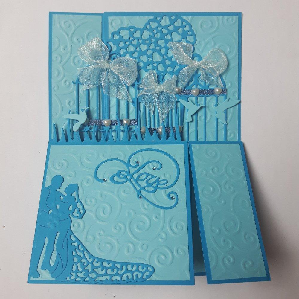 Carte 3D Félicitations pour un mariage 100% fait main