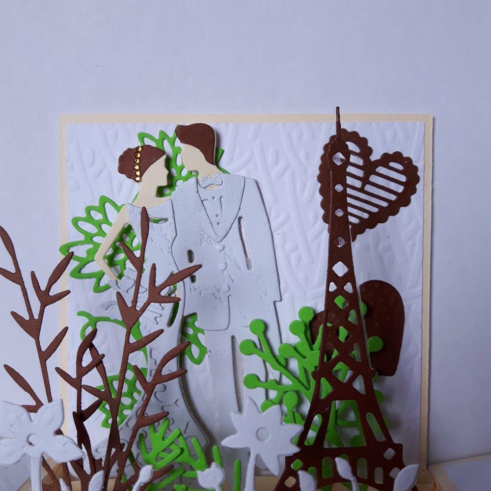 Carte unique Félicitations mariage à Paris