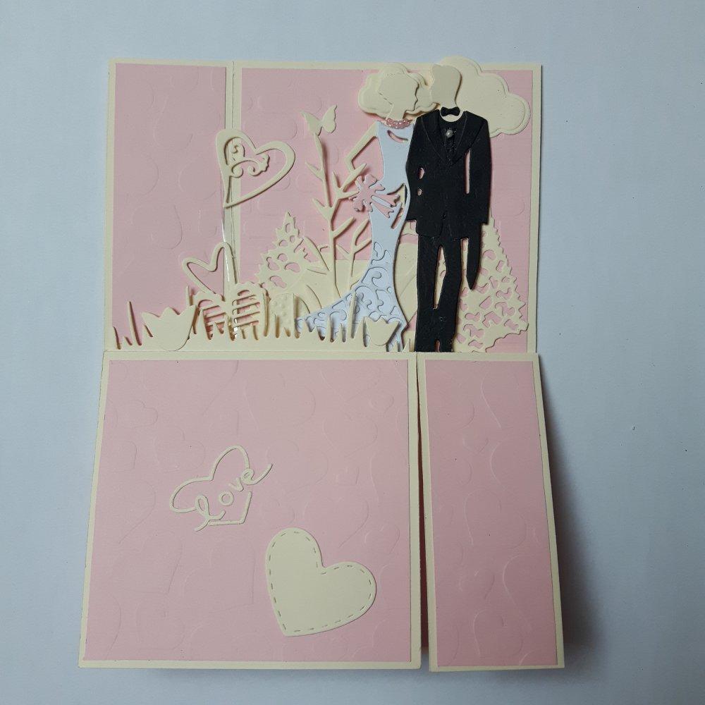 Carte 3D Félicitations mariage