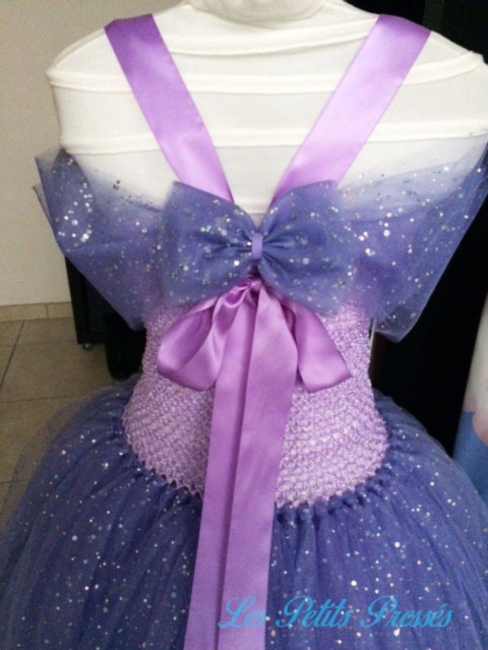 Robe tutu princesse Mauve à paillettes - taille 2/3 ans