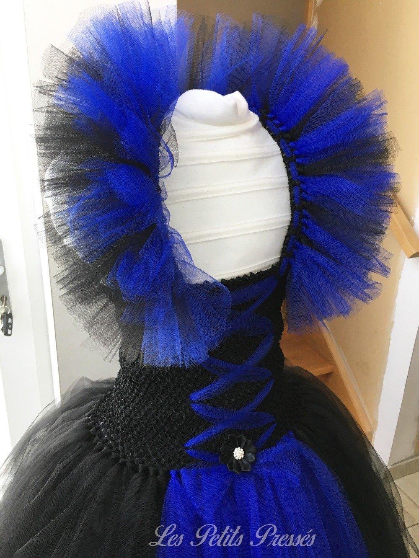 Robe tutu en tulle déguisement Reine de la nuit - taille 11/12 ans