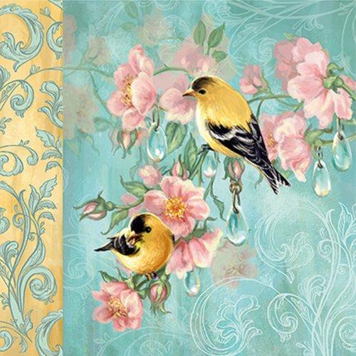 """Lot de 5 serviettes """"oiseaux"""""""