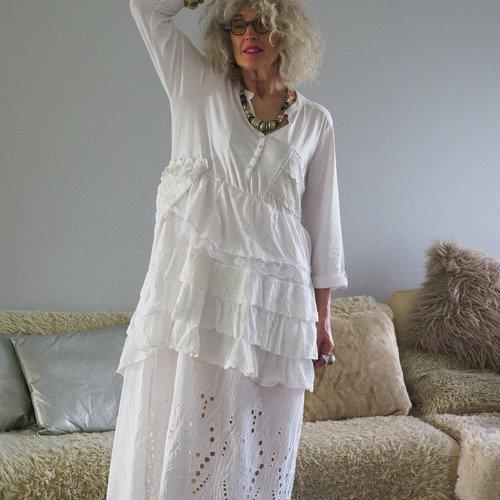 robe boheme chic hiver lin