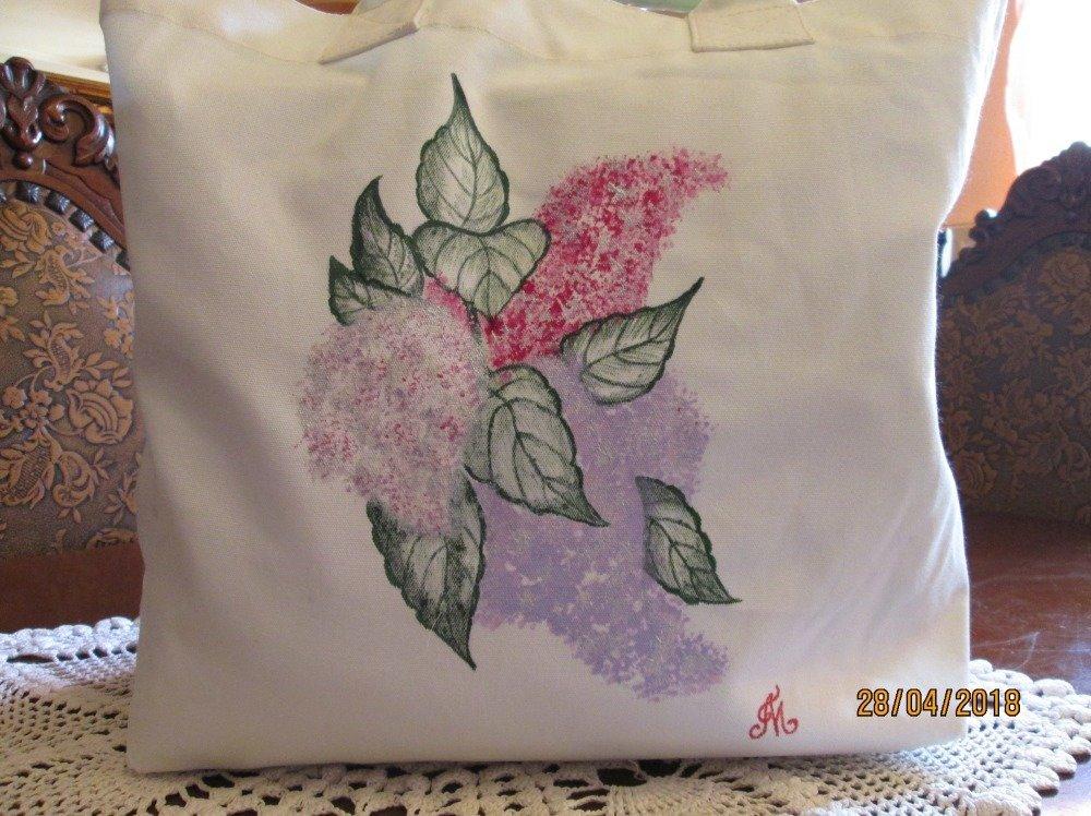 Tote bag, sac bandoulière style bohème - BELLES FLEURS