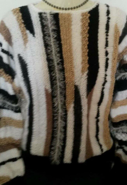 Pull de luxe Blanc/beige/noir