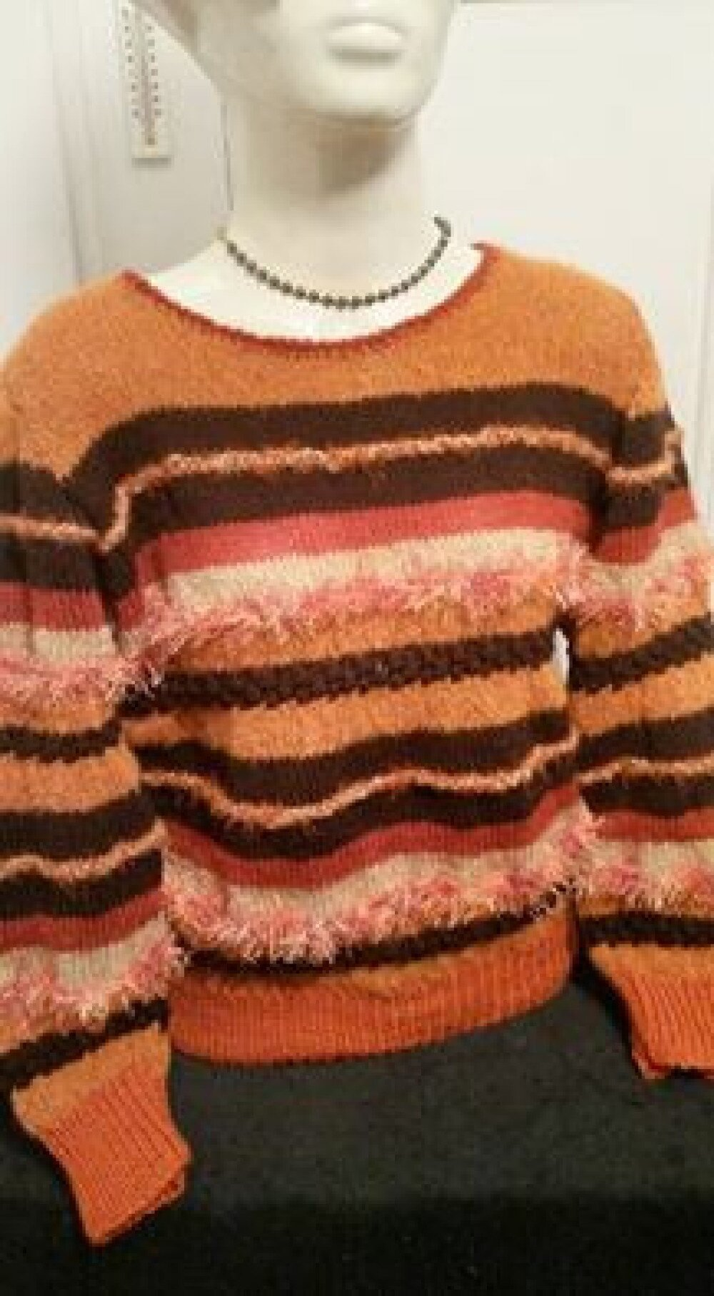 "Magnifique Pull style "" anny blat ' ROUX/MARRON"