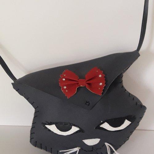 Sac chat gris