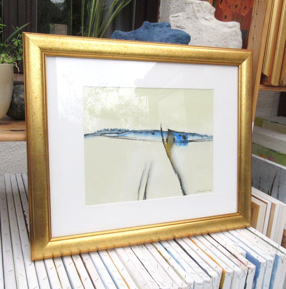 Papier A Peindre Epais le chant des vagues: peinture gouache abstrait de racines sur papier canson  épais