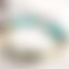 Pures emotions : un bracelet boho chic citadin  avec citrine et turquoise ....