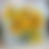 """Chaleur d'eté : peinture florale """"tournesols"""" huile au couteau sur toile de lin sur châssis ..."""