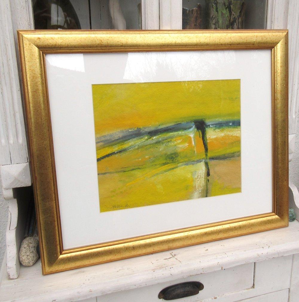 Papier A Peindre Epais l'esprit dans le trait : peinture gouache abstrait de racines sur papier  canson épais