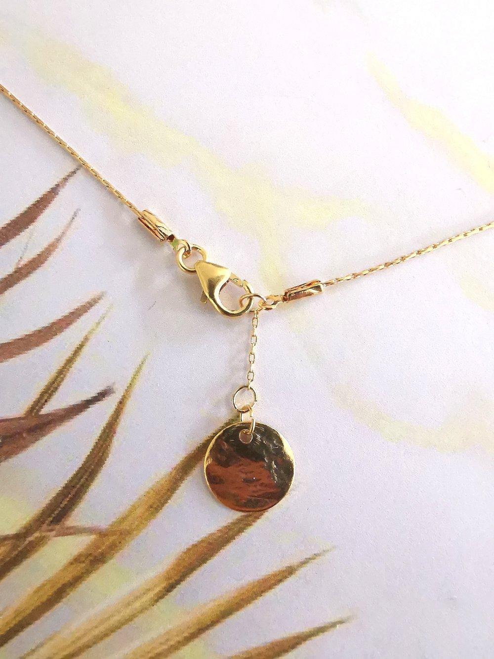 Bracelet double ultra fin minimaliste plaque or gold filled 14k et perles Miyuki noires et dorées