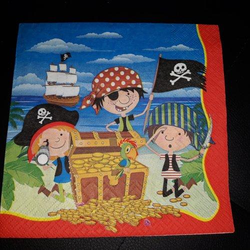 """Serviette en papier """"les pirates"""""""